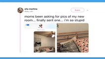 Sa mère lui demande une photo de sa chambre, elle lui envoie en oubliant d'enlever un petit détail