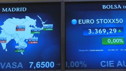 La bolsa española rompe la racha de avances y cae un 0,33 % en la apertura del martes
