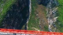 Pont le plus haut du monde, à 565m du sol, en Chine !