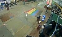 Il dégrade un symbole LGBT peint sur la route !
