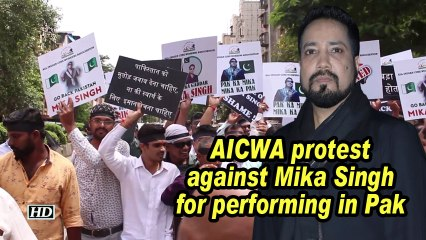 AICWA protest against Mika Singh for performing in Pak