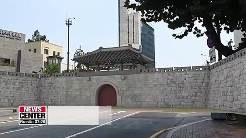 Donuimun gate, the western gate of Seoul in the Joseon Dynasty, is restored with AR and VR technologies
