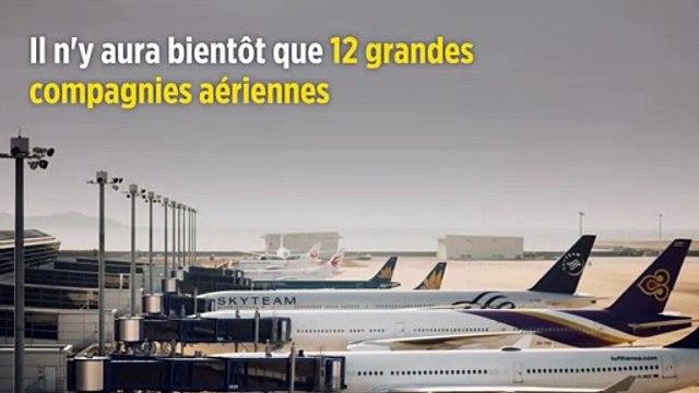 Il n'y aura bientôt que 12 grandes compagnies aériennes