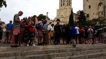 Avignon : une fil d'attente interminable pour le Palais des papes
