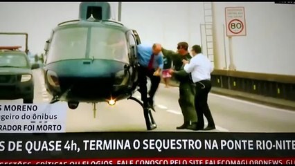 Vídeo mostra Wilson Witzel, governador do Rio de Janeiro, comemorando ação contra sequestrador