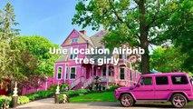 Une maison toute rose en location sur Airbnb pour seulement 59€ : visitez l'intérieur encore plus girly !