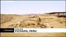 Une fresque murale de plus de 3 800 ans mise au jour au Pérou