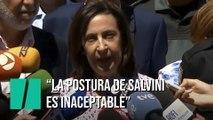 """Margarita Robles: """"Es inaceptable la posición de Salvini"""""""