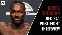 UFC 241: Derek Brunson post-fight interview