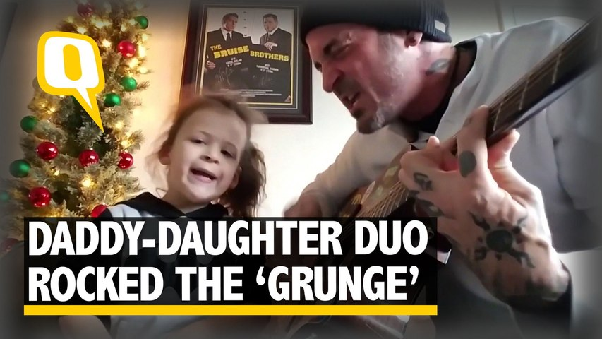 The Quint: A Daddy-Daughter Duo Rocked The`Grunge`Version Of Christmas Song