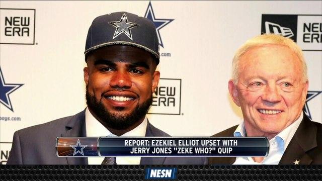 Ezekiel Elliott Reportedly Upset About Jerry Jones' Remark