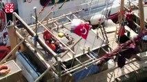 Kamıştan gemi İstanbul'da