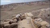 Une fresque de 3800 ans découverte au Pérou