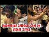 Madhurima Tuli smudges cake on Vishal Aditya Singh's face