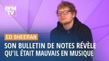 Exposé en Angleterre, le bulletin de notes d'Ed Sheeran révèle qu'il était mauvais... en musique