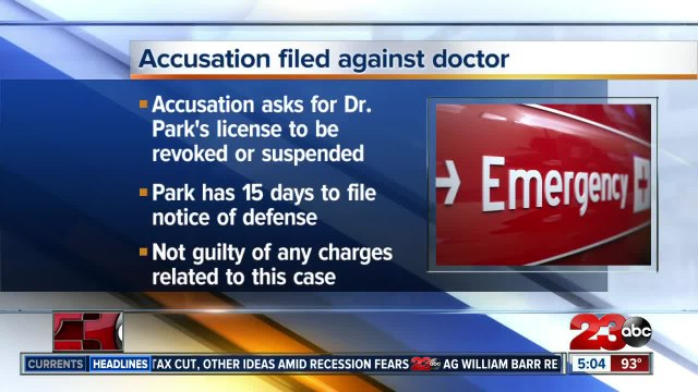 Accusation filed against local OB-GYN following patient's death six hours after giving birth