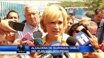 """Alcaldesa de Guayaquil se refirió a la implementación de Plan """"Más Seguridad"""""""
