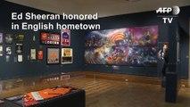 English city celebrates hometown hero Ed Sheeran