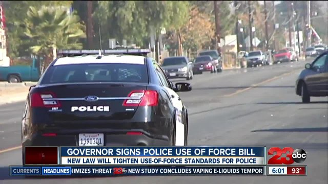 Governor signs police use-of-force bill