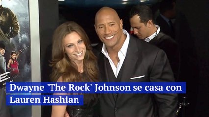 Dwayne 'The Rock' Johnson se casa con Lauren Hashian