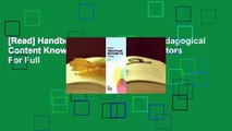 [Read] Handbook of Technological Pedagogical Content Knowledge (Tpack) for Educators  For Full