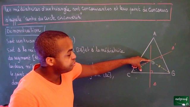 Cinquième Triangles Les trois médiatrices d'un triangle sont concourantes_3 - -