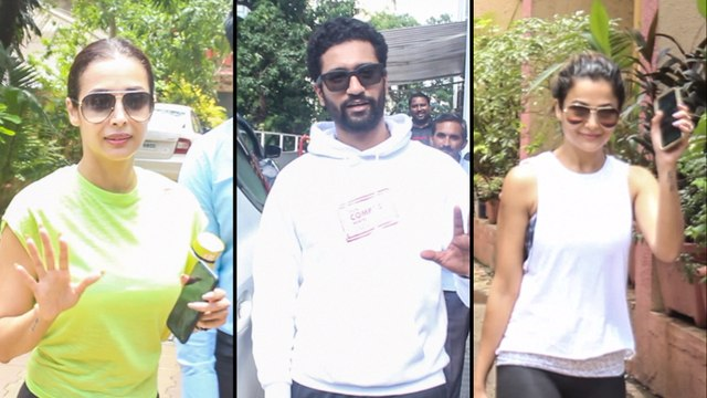 Bolllywood STARS Spotted After Intense Work Out Session   Malaika Arora, Vicky Kaushal