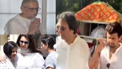 Khayyam Last Rite: Sonu Nigam, Gulzar & others give tearful farewell; Watch video | FilmiBeat