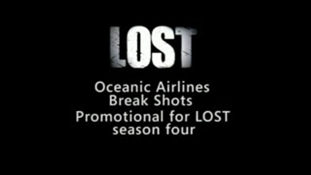 Lost Season 4 Oceanic Airlines Break Bumpers