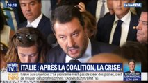 """""""Je ne renie rien de ce que j'ai fait"""" Matteo Salvini assume après la démission de Giuseppe Conte"""