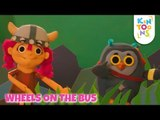 Wheels On The Bus Go Round And Round - Vehicle Sound Song | Kids Songs And Nursery Rhymes | KinToons