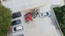 Erreur GPS : un camion-benne provoque l'effondrement d'un parking