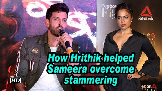 How Hrithik helped Sameera Reddy overcome stammering