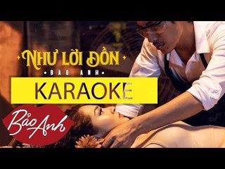Như Lời Đồn Karaoke - Bảo Anh (Beat chuẩn có bè)