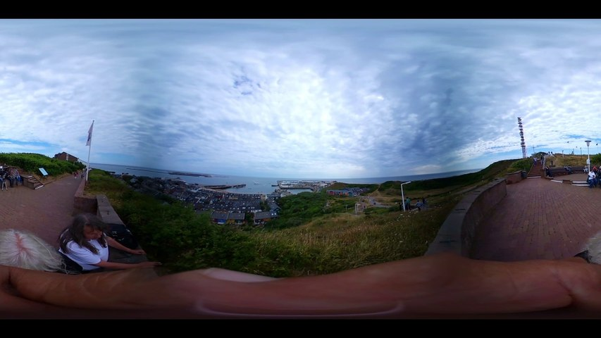 Helgoland-Am Falm-360 Grad Video