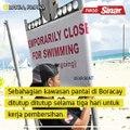 Najis punca pantai di Boracay ditutup