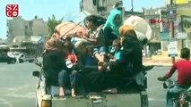 İdlibliler, bombardımandan kaçıyor