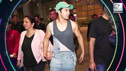 Varun Dhawan And Sara Ali Khan At The Airport Look