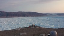 Climate change disaster: a Greenland glacier shrank 6 miles in 14 years