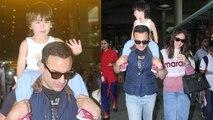 Taimur Ali Khan back to Mumbai with Kareena Kapoor Khan-Saif Ali Khan; Check Out | FilmiBeat