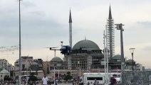 Taksim Meydanı'nda polis drone'u test edildi