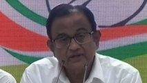 Not hiding from law, says Chidambaram at Congress HQ