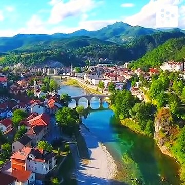 Bosnia and Herzegovnia's views from a drone