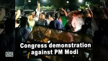 Congress workers protest against Prime Minister Narendra Modi