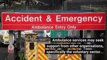 How do ambulances respond to emergencies?