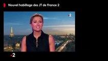 Découvrez le nouvel habillage des JT de France 2 qui sera proposé à partir de lundi prochain dans le 20h d'Anne-Sophie Lapix