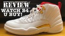 Air Jordan 12 FIBA White Red Gold Retro 2019 Sneaker HONEST Review