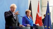 Boris Johnson beharrt in Berlin auf seinen Forderungen