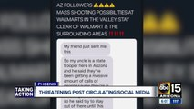 Threats following Walmart shooting