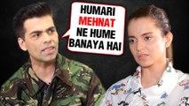Karan Johar's FITTING Reply To Kangana Ranaut On NEPOTISM | WATCH